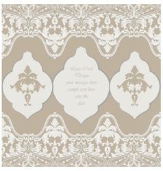 Vintage Delicate Lace Baroque card vector image