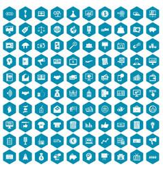 100 e-commerce icons sapphirine violet vector