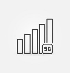 5g network signal concept icon in thin line vector