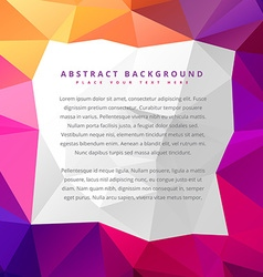 Abstract low poly colorful background vector