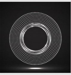 abstract neon dotted circles glowing dots vector image