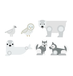 Alaska animals vector image