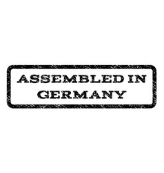 Assembled in germany watermark stamp vector