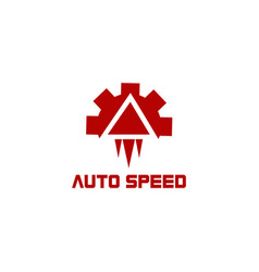 auto speed rocket abstract logo vector image