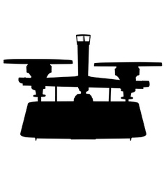 Balance scale silhouette vector image
