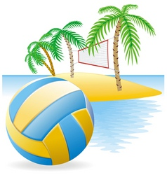 Beach volley island vector