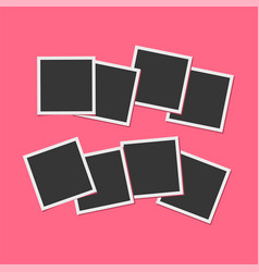 Black and white photo frames isolated on living vector