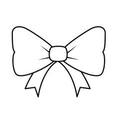 Bowtie decorative isolated icon vector
