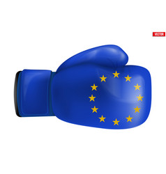 Boxing gloves with eu flag vector