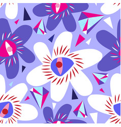 bright seamless lilac pattern from vector image
