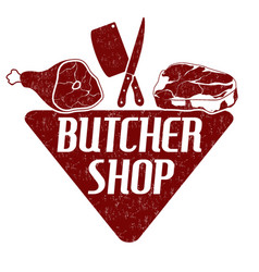 butcher shop stamp vector image