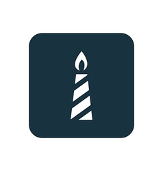 candle icon Rounded squares button vector image