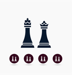 chess king and queen icon simple game element vector image