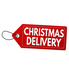 christmas special delivery label or price tag vector image