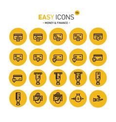 Easy icons 12c money vector
