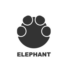 Elephant footprint logo paw print vector