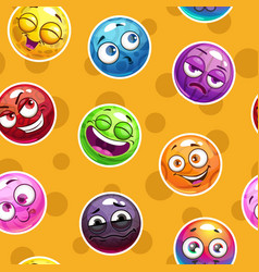 emoji texture seamless pattern with funny vector image