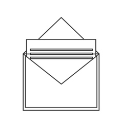 envelope with document icon vector image
