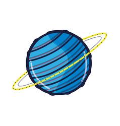 Exploration uranus planet in galaxy space vector