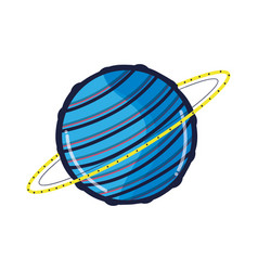 Exploration uranus planet in the galaxy space vector