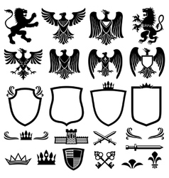 family coat arms elements for heraldic vector image