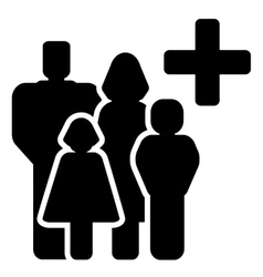 Family medical care icon vector