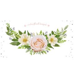 Flower wreath bouquet design object element vector