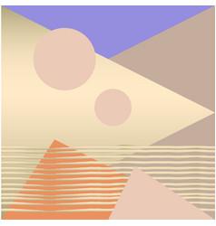 geometric chic pattern vector image