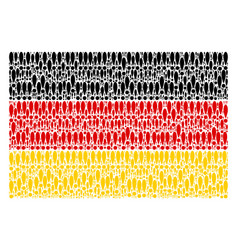 German flag collage of exclamation sign items vector
