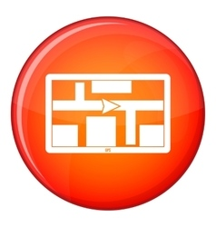 GPS navigation icon flat style vector
