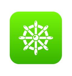 handwheel icon green vector image