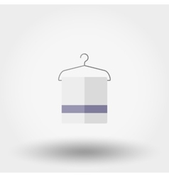 Hanger and towels Icon vector image