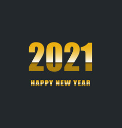 Happy new year 2021 with gradient text vector