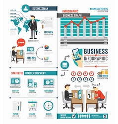 Infographic Business world job template design vector image
