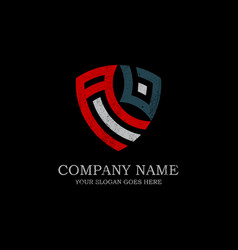 Initial av letter logo inspiration vintage shield vector