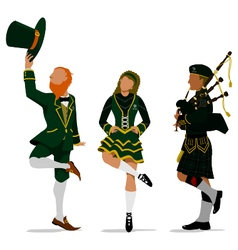 Irish Characters vector