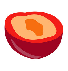 Isolated plum cut vector