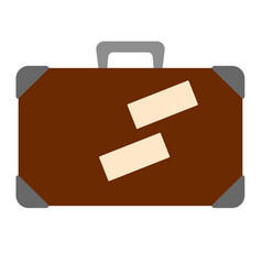 isolated suitcase icon vector image