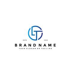 Letter lt logo design vector