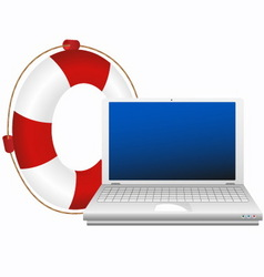 lifesaver for laptop vector image