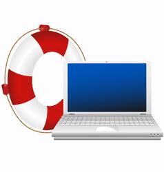 Lifesaver for laptop vector