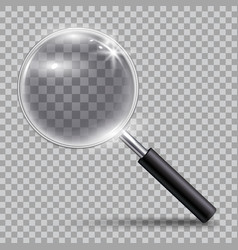 magnifying glass tool 3d realistic vector image