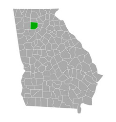 Map cherokee in georgia vector