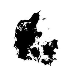 Map denmark isolated black vector