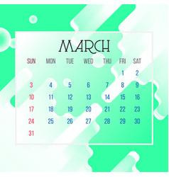 march 2019 calendar leaf vector image