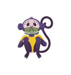 monkey dont speak because vector image