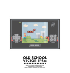 Old gadget flat vector