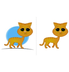 Orange Cat Cartoon vector