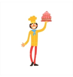 Profession Confectioner vector image