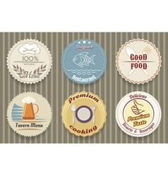 restaurant menu labels vector image